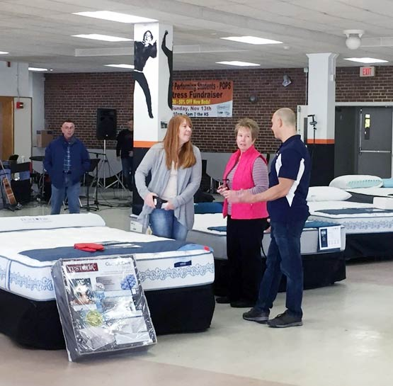 CFS Mattress Fundraiser Showroom at School