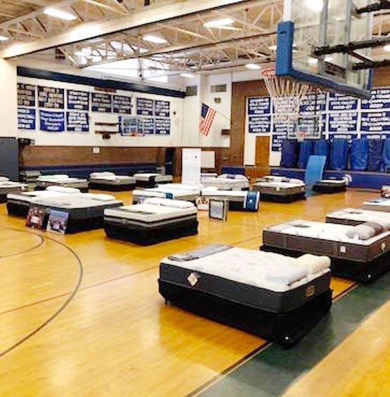 CFS Empty School Gym with Beds