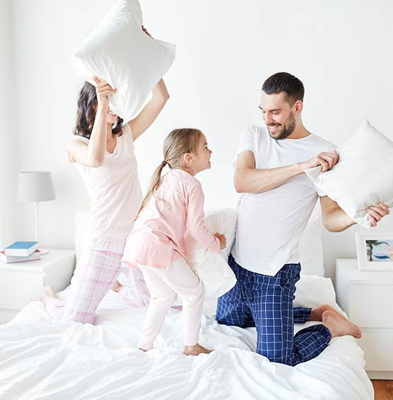 Pillow Fight with Family