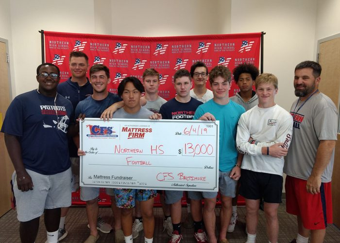 Northern Highschool Football Check for $13,000