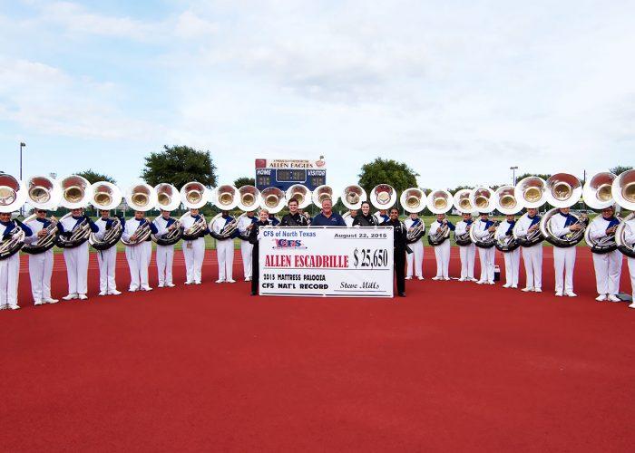 Allen Escadrille's Band, Check for $25,650