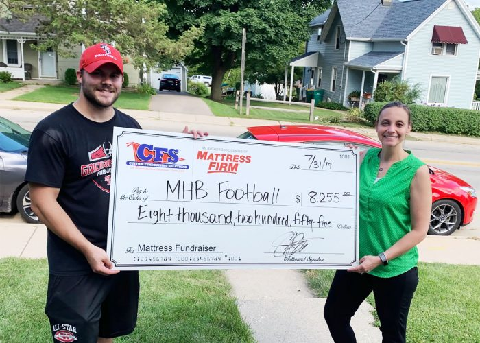 MHB Football's Check for $8,255