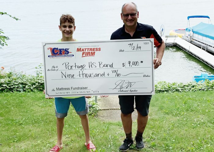 CFS Milwaukee's check for $9000