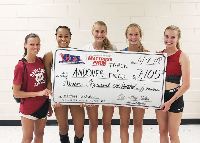 CFS Andover Track and Field Check for $7105