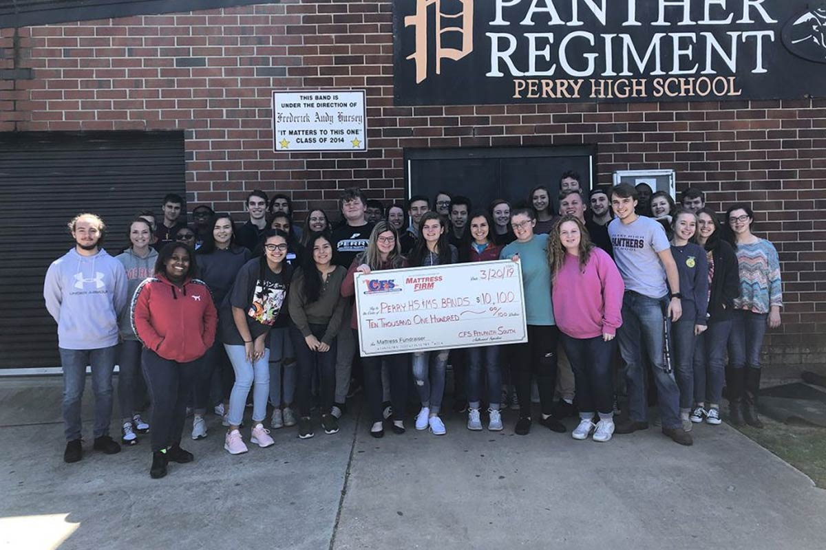 Perry High School and MS Bands, $10100 Check