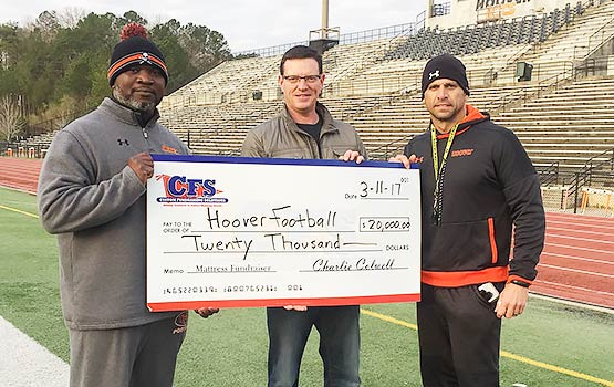 Hoover Football Cheque for $20,000